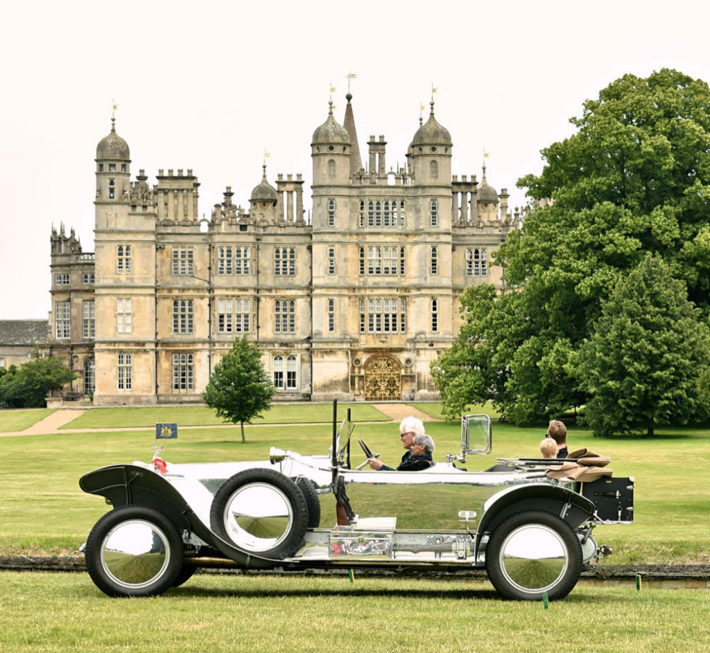 Prize-winning 1919 Silver Ghost outshines even Burghley House - as befits the transport of ex-Maharaja of Patiala (photo: Richard Fenner)