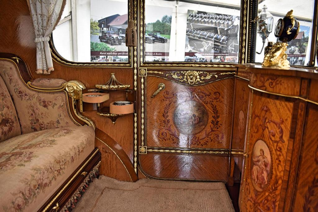 The lavish boudoir of a1926 Phantom 1 (photo: Richard Fenner)