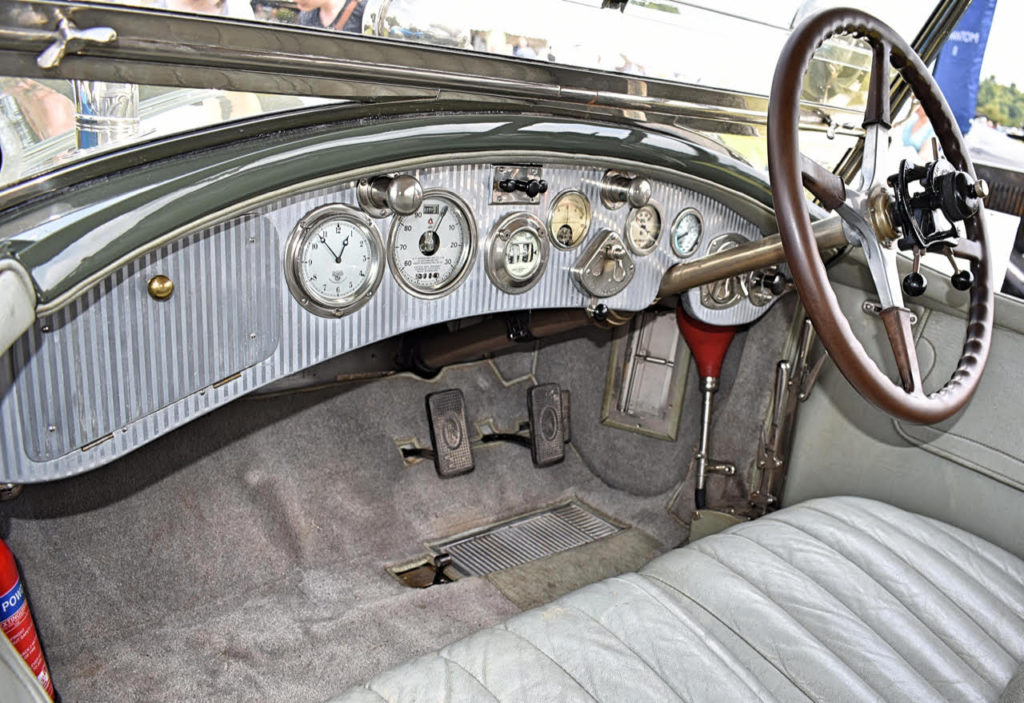 The 1927 Phantom 1 tourer's pristine display of quality dials greeted the driver of the Maharajah of Udaipur (photo: Richard Fenner)