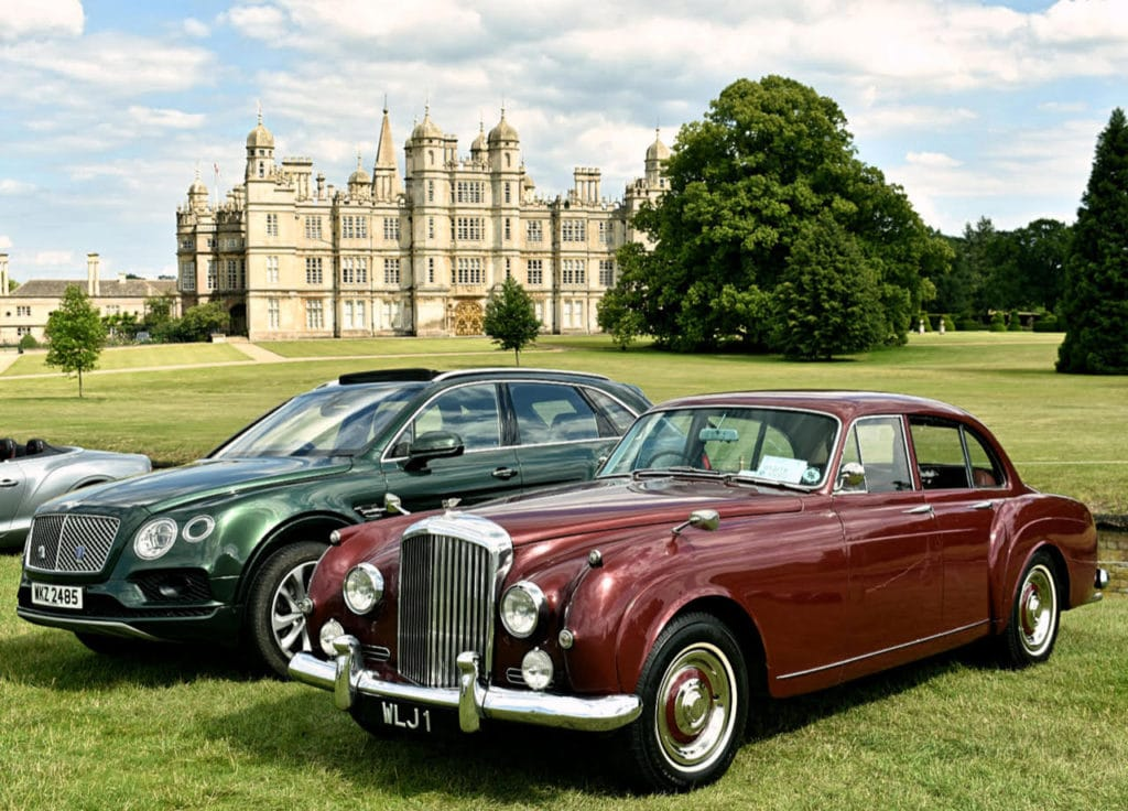 2007 Bentley Bentayga and 1957 Bentley S1 Continental Flying Spur by HJ Mulliner (photo: Richard Fenner)