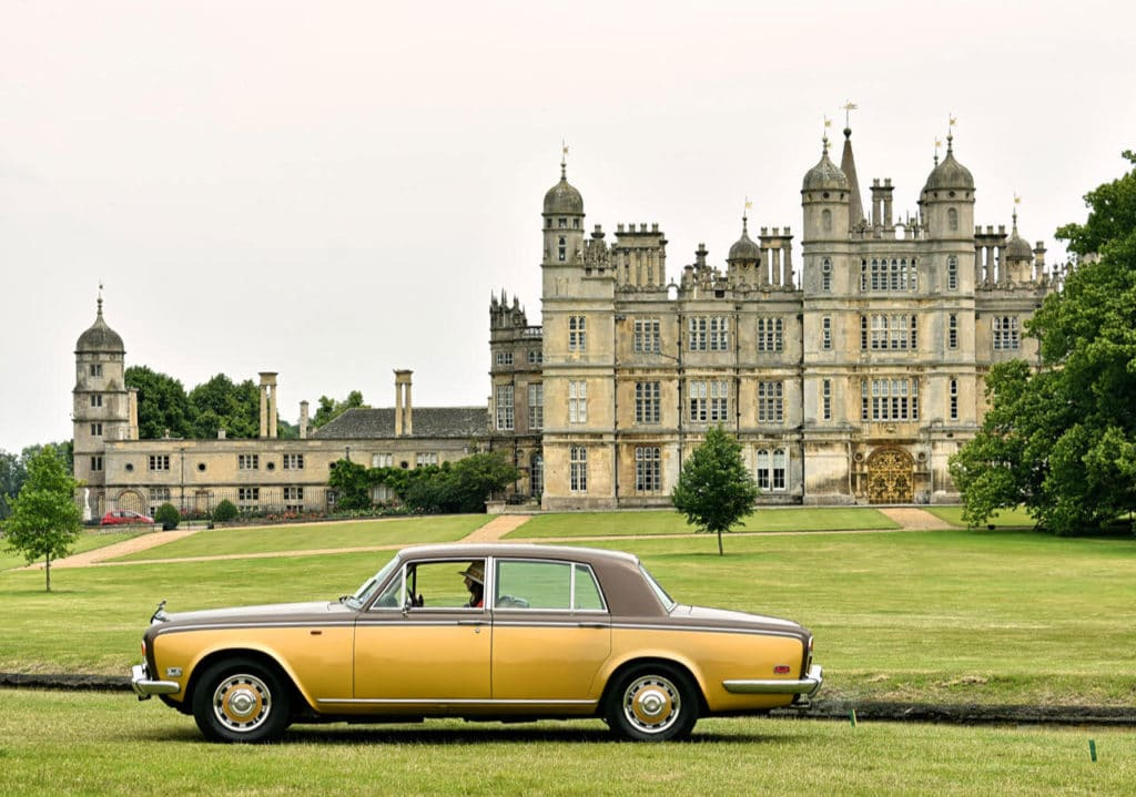 Prize-winner at Burghley for best car owned by someone under 30 years of age - a 1975 Silver Shadow (photo: Richard Fenner)