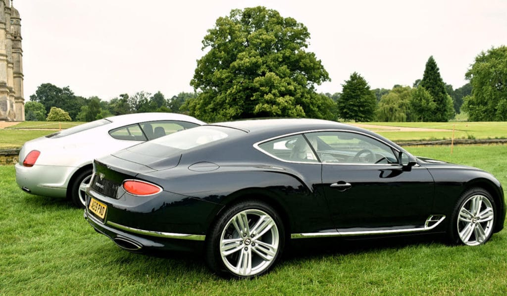 First and latest Bentley Continental GT's (photo: Richard Fenner)