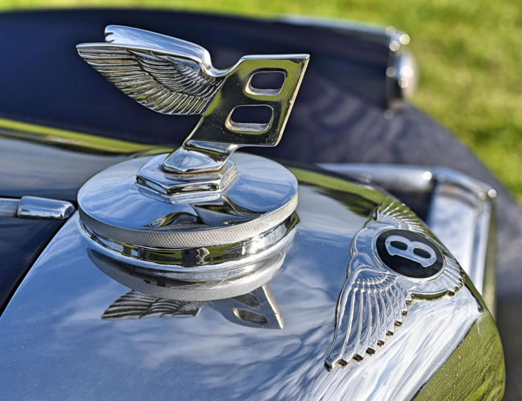 The later Flying B mascot adorns many a fine Bentley