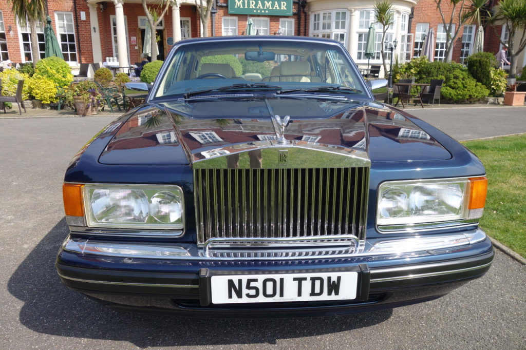 John Pannell's 1995 Rolls-Royce Silver Spur III looking resplendent in Bournemouth