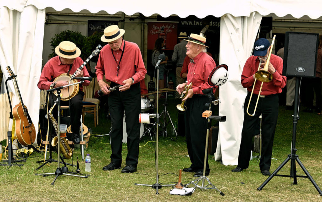 Traditional jazz musicians set the tone at Burghley (photo: Richard Fenner)