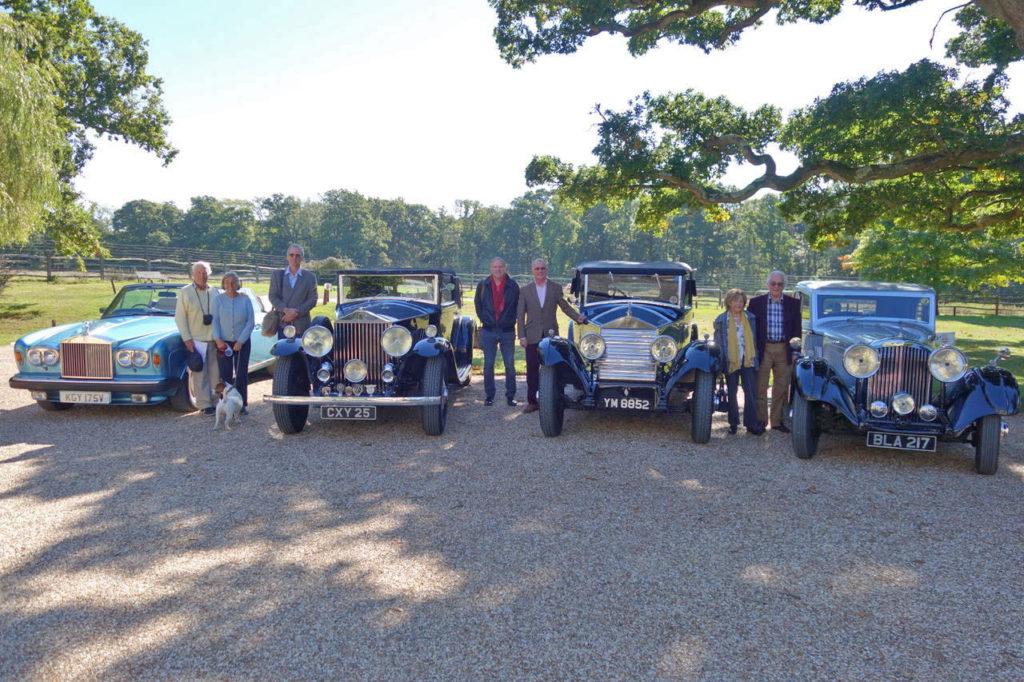Chairman Stuart Bladon's 1979 Corniche, Simon Croft's 1936 20/25, Gary Trinder's 1925 Twenty and Lawrie Smith's 1934 Bentley 3 1/2-litre