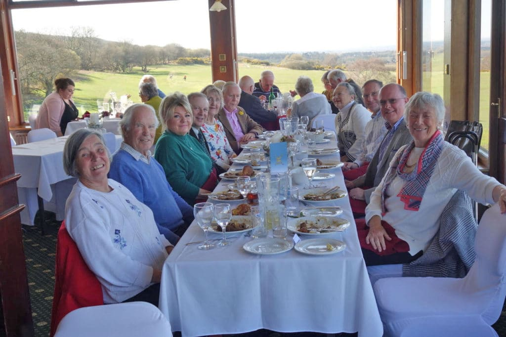 Some of the Wessex Section enjoying lunch at the Isle of Purbeck Golf Club in March 2019