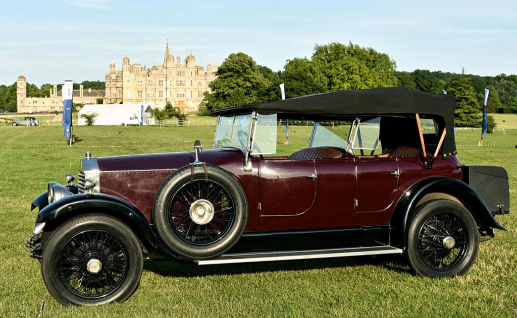 Rolls-Royce Twenty with barrel sided tourer body - note rear Auster screen to protect passengers when hood is down (photo: Richard Fenner)