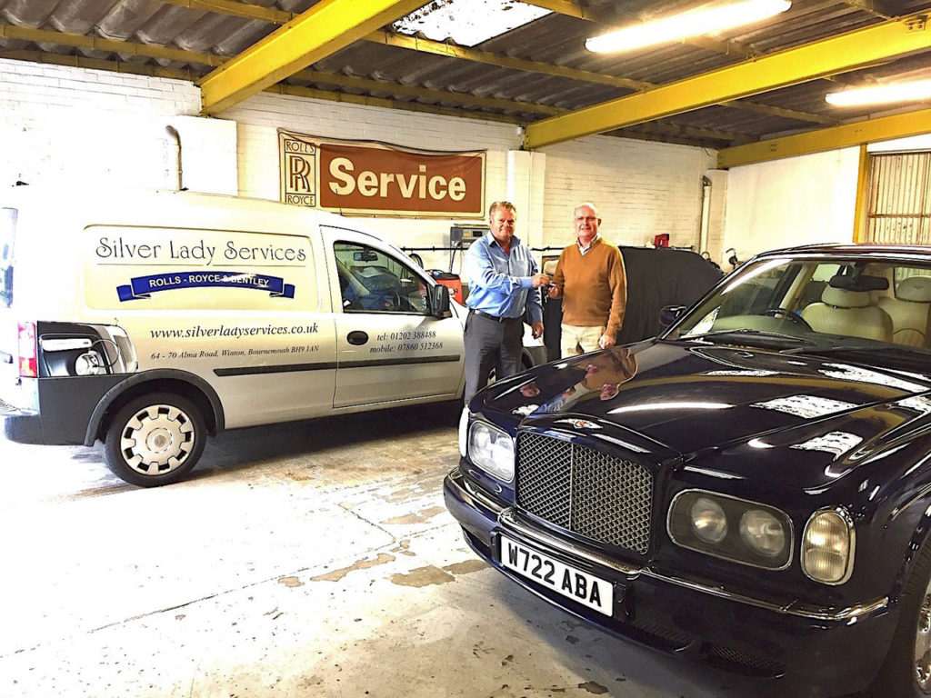 Gary Trinder picks up his new Bentley Arnage from Silver Lady Services