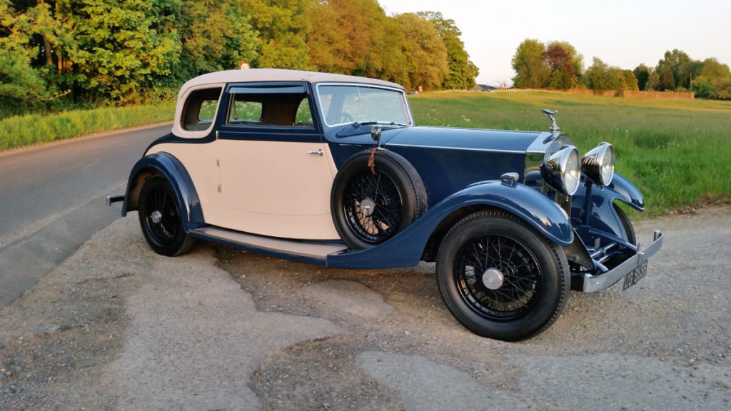 Andrew Roan's 1933 20/25 with Rippon Bros coupe body