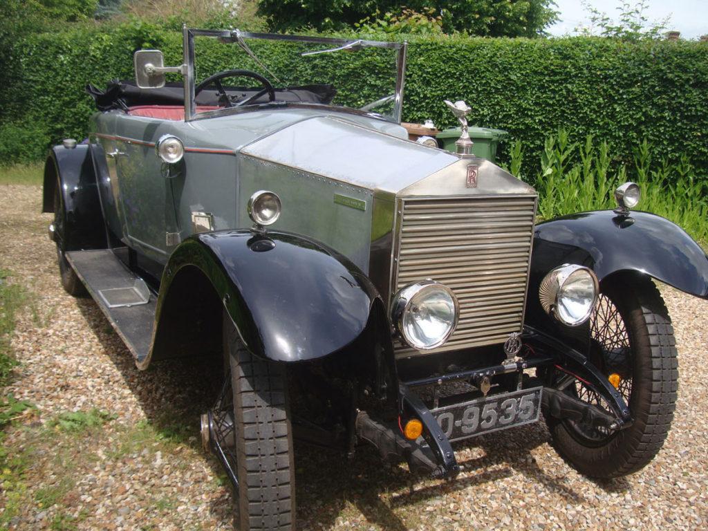 Tim Corbishley's 1923 20HP (GF20) originally had formal coachwork so is sprightlier now
