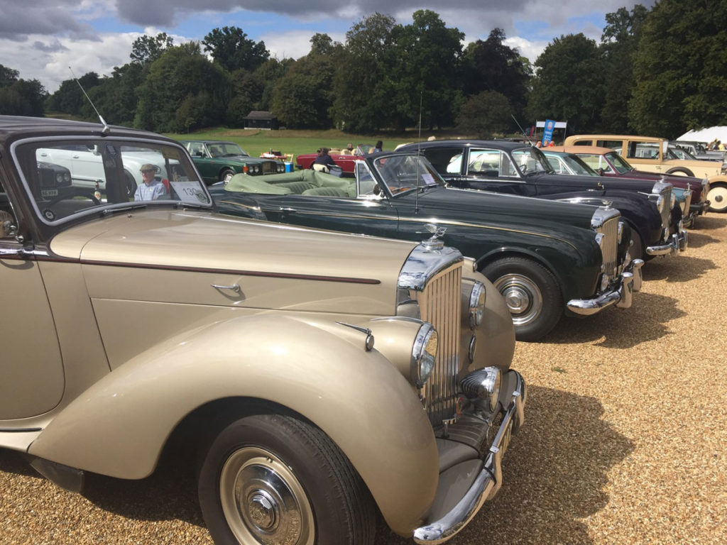 Bentley line-up at the South of England Rally 2020