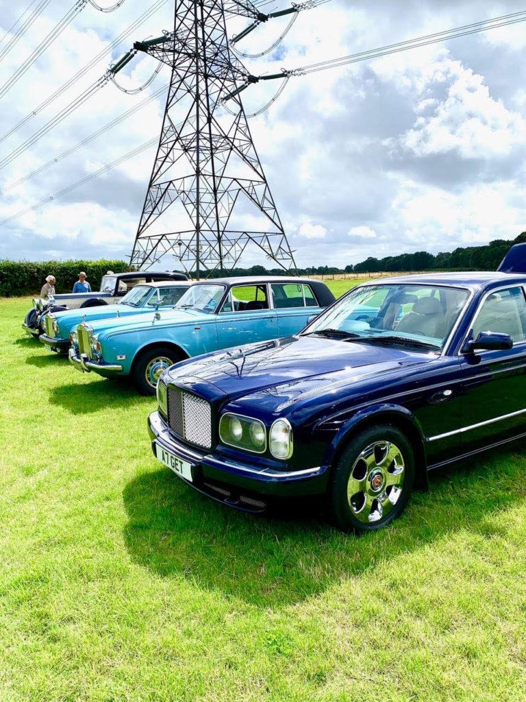 Powerful line-up of Gary Trinder's Bentley Arnage, Tony Littlefair's 1972 Silver Shadow, editor Stuart Bladon's Corniche, and Steve Wilks' 20/25