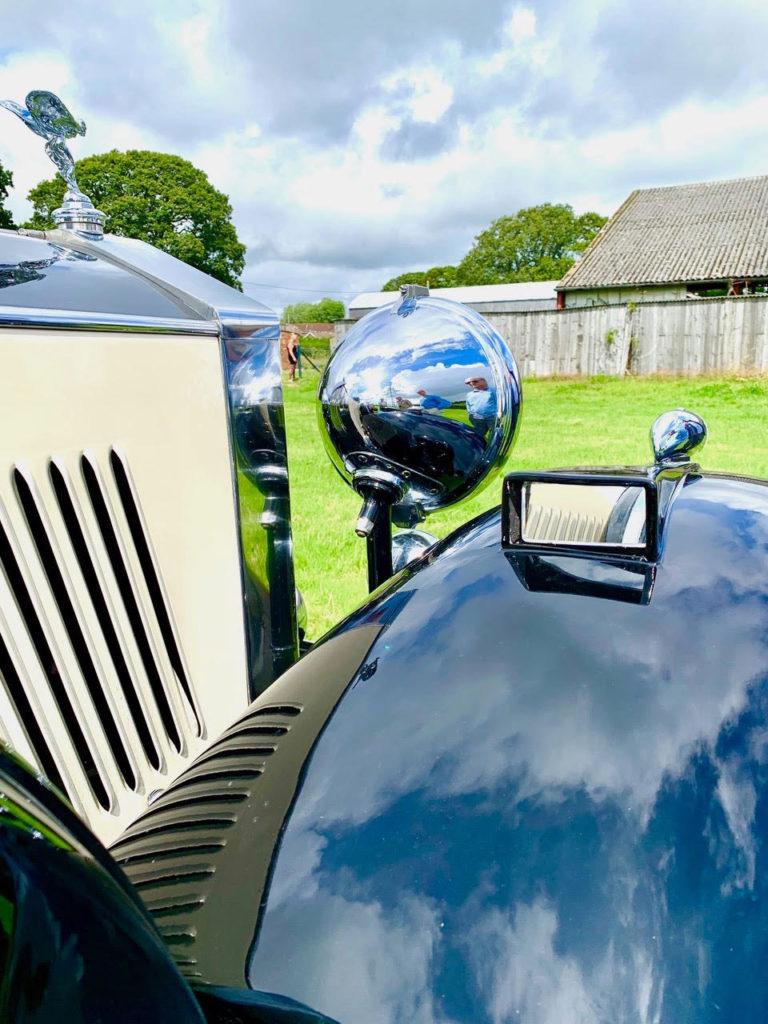Steve Wilks' 1933 Hooper bodied 20/25 has unusual but original faired-in wing mirrors