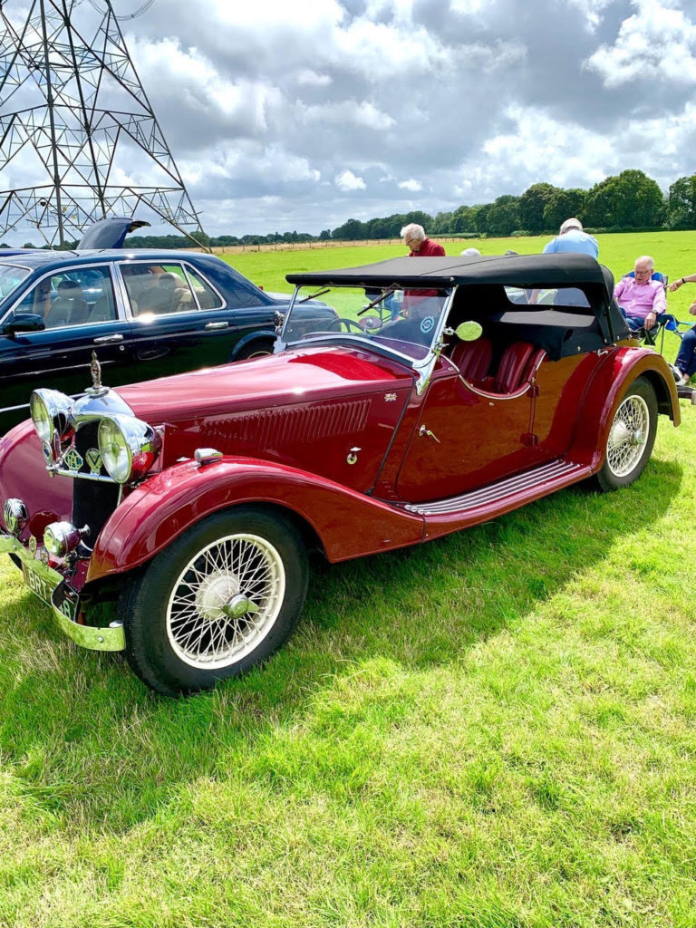 Riley Register invitees David & Dianne Weeks travelled all the way from Salisbury in their pristine 1936 Riley Lynx tourer